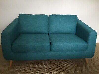 DFS Luppo 2 Seater Sofa in Teal, Excellent Condition, Rarely Used.