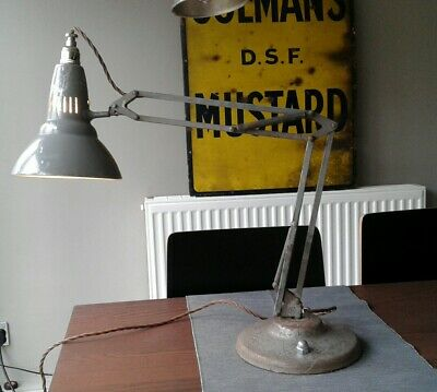 Fabulous vintage early industrial  1001 lamps NORWAY anglepoise , rewired.