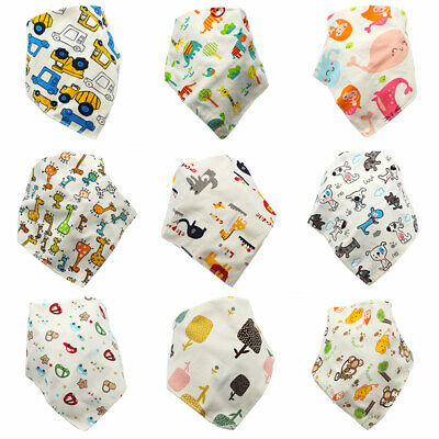 Triangle Infant Baby Boy Girl Bibs Saliva Towel Cute Cartoon Bib Feeding Bandana