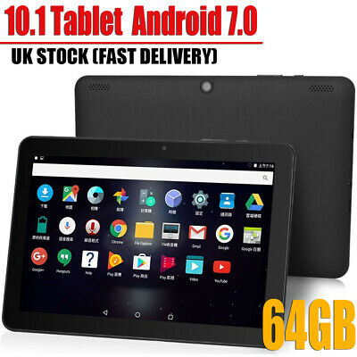 "10.1"" Tablet PC Android 7.0 4GB+64GB Octa-Core Google WIFI Dual Camera Bluetooth"