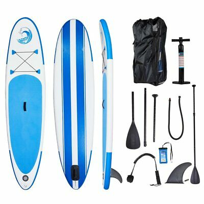 10' Inflatable Stand Up Paddle Board SUP W/ Adjustable Fin Backpack Pump Sport