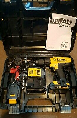 DeWalt DCD776, with Charger and Two Batteries and case