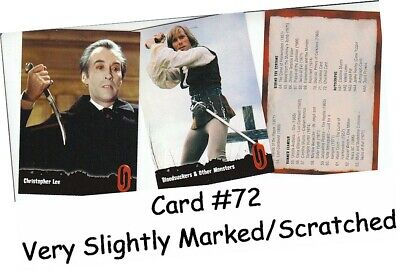Hammer Horror Series 1 - 72 Card Basic/Base Set - Card #72 Very Slightly Damaged