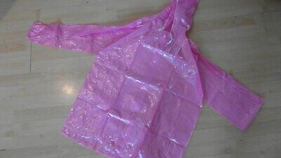 """ADULT BABY BRIGHT PINK PLASTIC FUN SUIT TOP + PANTS SIZE L to XL,  26""""-35"""" WAIST"""