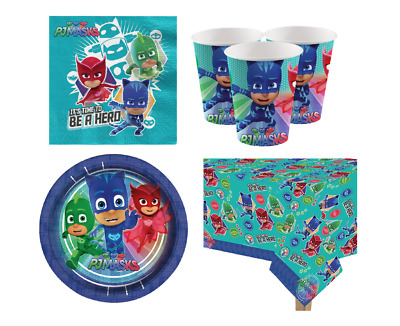 PJ Masks Party Supplies Cups Plates Kid Birthday Party Kit for 8-32 Party Guest