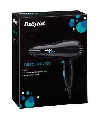Hairdryer - Babyliss Turbo Dry Essential 2000 Watt Hair Dryer