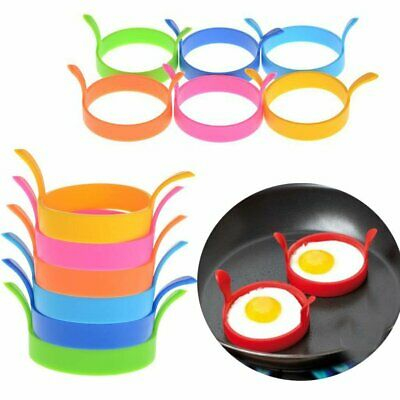 Random Colour Silicon Egg Frying Rings Fry Fried Poacher Mould Nonstick Mold