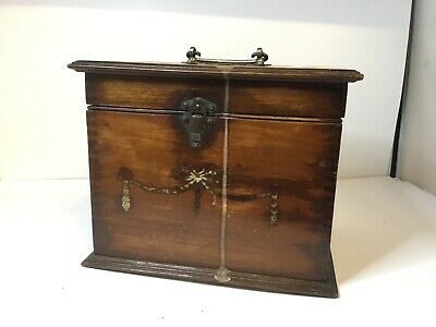 Antique Wooden Stationery / Trinket / Sewing Box For Restoration Project Piece,