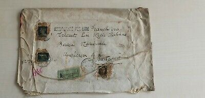 1935 Italy extremly high postage on money value letter way seal !!! (9)