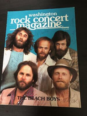Beach Boys Washington Rock Concert Mag 1979 Signed by 5 w/ Dennis & Carl Wilson