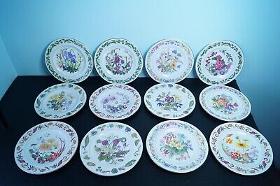 Set Of 12 Royal Worcester The Royal Horticultural Society Collector Plates