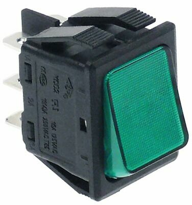 Rocker Switch Mounting Measurements 30X22Mm Green 2Co 250V 16A Illuminated