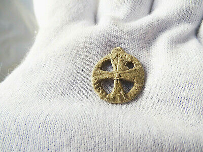 Ancient Pendant Cross Byzantine, Viking c 11-13 AD. CV1