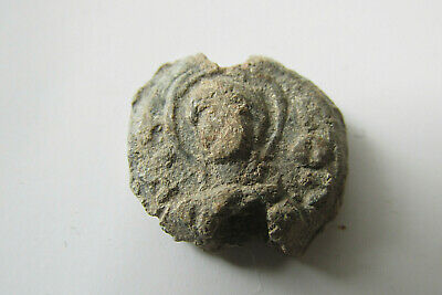 Ancient BYZANTINE LEAD SEAL/ WITH DEPICTION OF JESUS CHRIST 7th c.