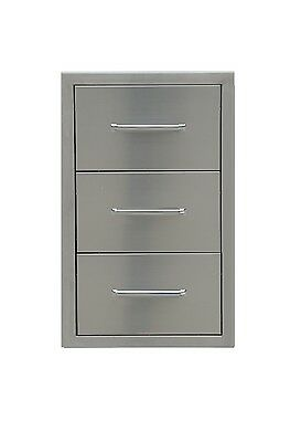 """Triple Drawer Outdoor Kitchen Bbq 304 Stainless Steel Access """"Best Quality"""""""