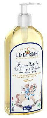 Linea Bimbi Organic 2 in 1 Baby Shampoo Body & Hair, Gentle No Tears Vegan 500ml