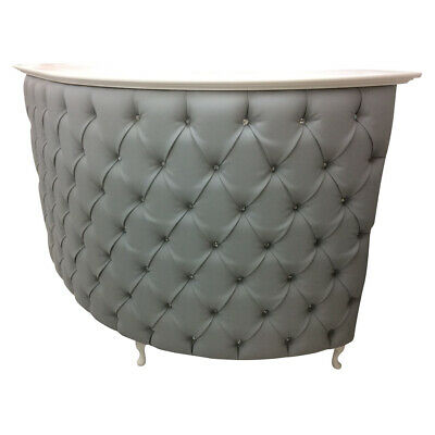 Curved L Shape Reception Desk with velvet padded front,  other colours available