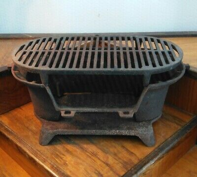 Vintage Antique Cast Iron Grill Old Hunting Camping Fishing