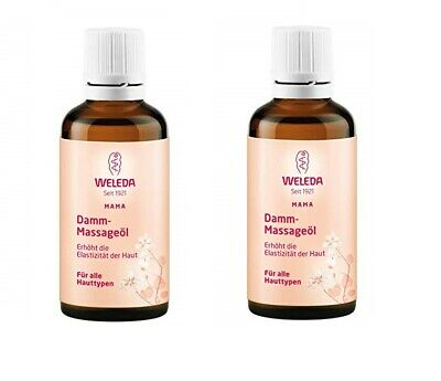 2 x Weleda Parineum Massage Oil For Mother - All Skin Types- 50ml - EXP 06/2020