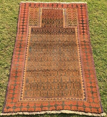 Collectable persianTekke/basher prayer fine handknot wool Rug Size:4.2×2.7ft#789