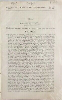 1852 Committee Of Foreign Affairs Cuba - 36 Pages