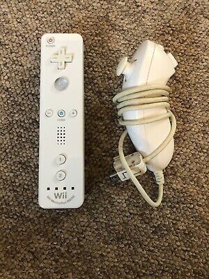 Official Nintendo Wii Remote Control - Motion Plus Inside - Nunchuck - Batteries