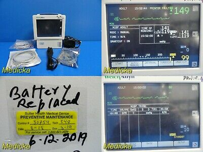 Welch Allyn ProPaq CS-242 Patient Monitor W/ New Battery & Patient Leads ~ 18212