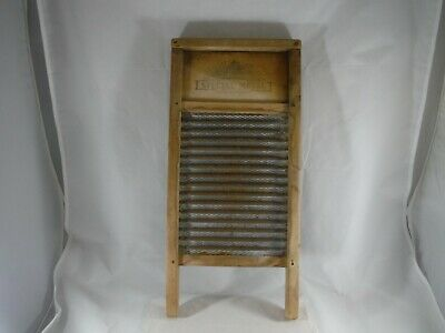 SMALL WASHBOARD National CAPITOL LINE Special Metal  18 x 8 3/8