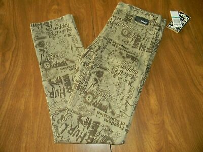 Hurley Boys Size 16 Mens Size 30 Brown Sandstone Skinny Jeans NWT
