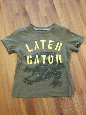 Boys Short Sleeve Shirt Size 3T Graphic Top Later Gator Carter's