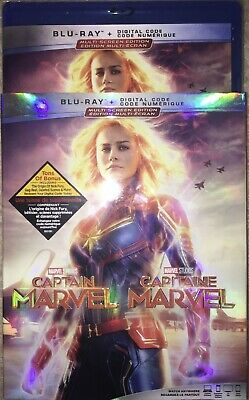 Captain Marvel Blu-Ray w Slipcover Canada Bilingual NO DC LOOK
