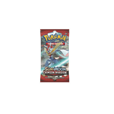 Pokemon Sun & Moon Crimson Invasion Sealed Booster Pack SM-4 TCG : Trading Cards