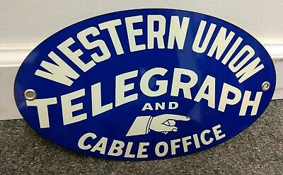 Western Union Telegram And Telegraph Company Sign