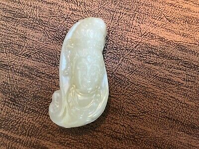 Pure Natural Hand-carved Chinese Jade Pendant-Blessing Buddha