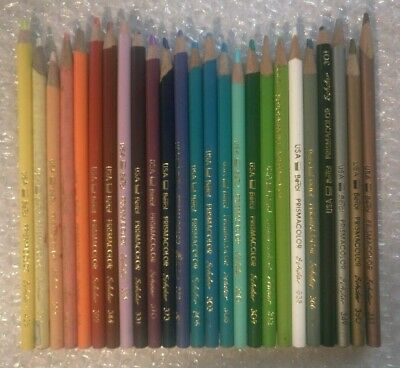 Prisma Colored Pencil Crayon Mixed Lot 25 Random Berol Prismacolor Scholar #A