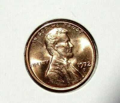 1972 D Lincoln Memorial Cent Beautiful Red Brilliant Uncirculated ( Bu )