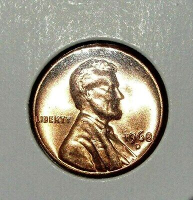 1968 D Lincoln Memorial Cent Beautiful Red Brilliant Uncirculated ( Bu )