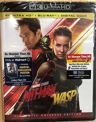 Ant-Man and the Wasp (4K Ultra HD+Blu-ray +Digital+Exclusive Poster) NEW SEALED