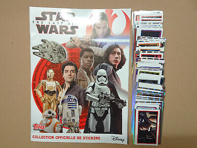 TOPPS STAR WARS THE LAST JEDI (STICKERS) - Album Vide + Set Complet à coller