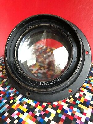 """Taylor Hobson Cooke 14 Inch 5.6 Aviar Air Ministry Lens Rare For 8x10"""" Camera"""