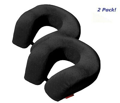 2pk BookishBunny Soft U Large Neck Head Rest Pillow Car Travel Airplane Cushion