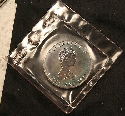 1989 Canada 1 oz .9999 Silver Maple Leaf - Mint Sealed. Colorfully Toned Coin