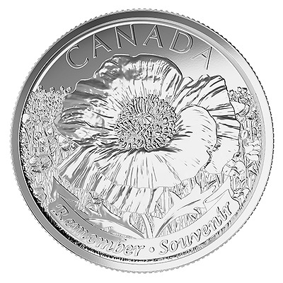 CANADA 2015 New 25 cents In Flanders Fields (BU directly from mint roll)