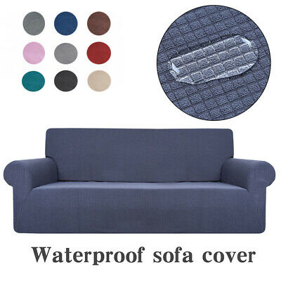 1/2/3/4 Sofa Couch Fleece Slipcover Stretch Waterproof Cover Settee Protector AU