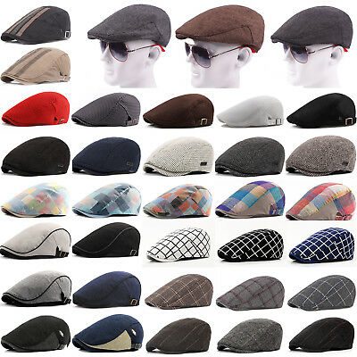 Mens Newsboy Ivy Golf Driving Flat Cap Womens Classic Vintage Cabbie Gatsby Hat