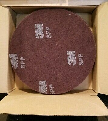 "Scotch-Brite Surface Preparation Pads 3M SPP15 15"" Surface Non Woven Round 10PK"