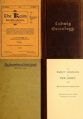 117 Rare Books On German Genealogy Ancestry & Families In America Records On Dvd