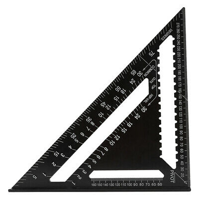 Speed Triangle Miter Black Square Ruler Alloy System 300mm Protractor Rafter