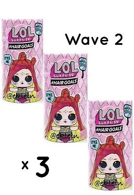 3 Sealed LOL Surprise Doll Makeover Series #Hairgoals Series 5 Wave 2 •IN HAND•