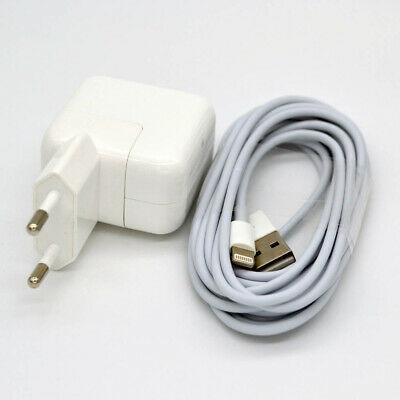 12W USB Power AC Adapter Charger for Apple iPad Mini 2 3 4 Air + 2m USB Cable